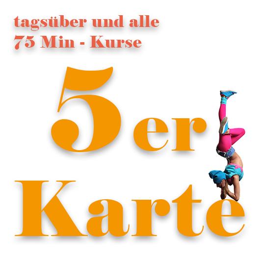 Training Kurs-Karte tagsueber Tanzschule Kreuzberg